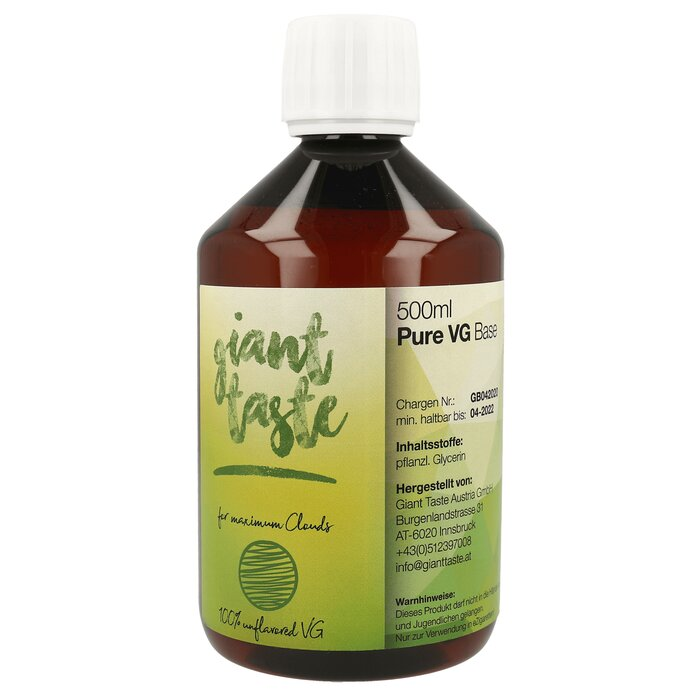 Giant Taste Base - 500 ml - Pure VG - 0 mg