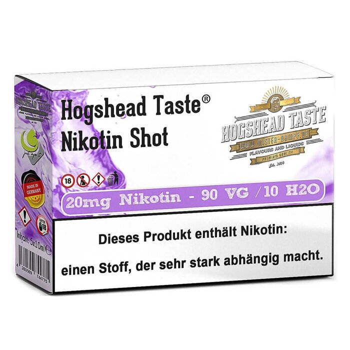 Hogshead 5er Pack Shot 20 mg - 90VG/10H2O