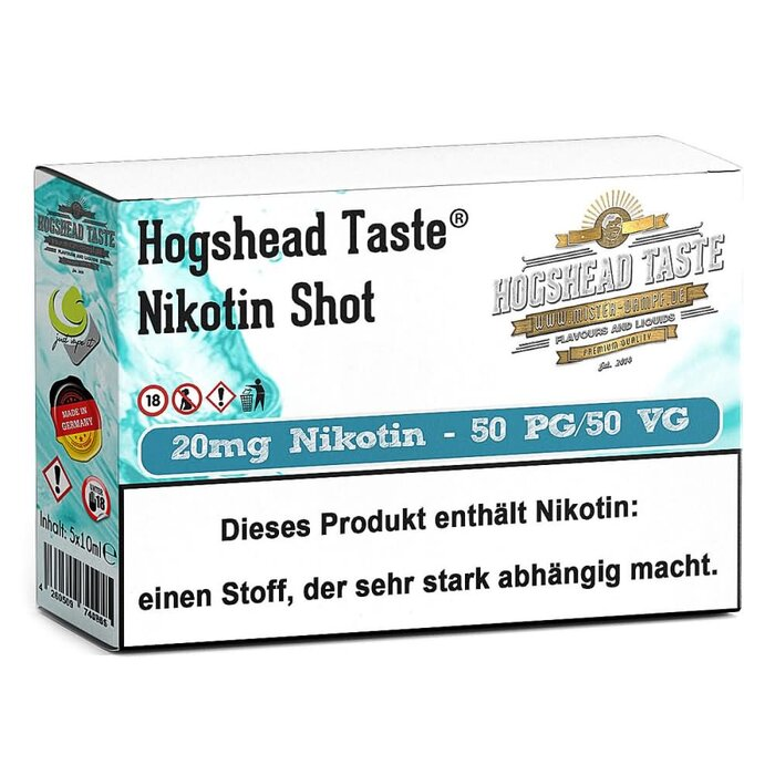 Hogshead 5er Pack Shot 20 mg - 50VG/50PG