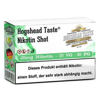 Hogshead 5er Pack Shot 20 mg - 70VG/30PG